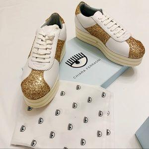 Chiara Ferragni Platform Glitter Sneakers 41 11